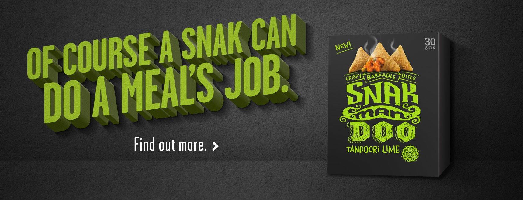 Tandoori Lime Bites from Snakmandoo. a Bellisio Foods brand